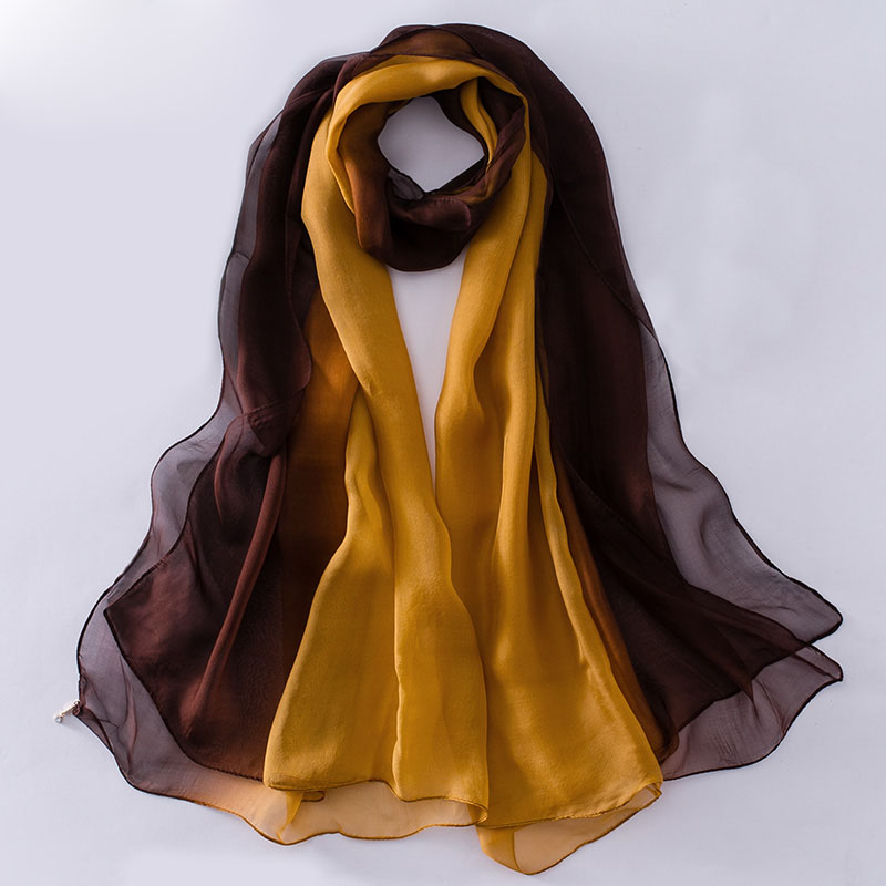Hot sale woman gradient color soft silk tudung scarf indian silk scarf wholesale