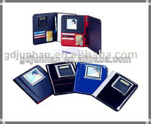leather embossed pu a5 padfolio