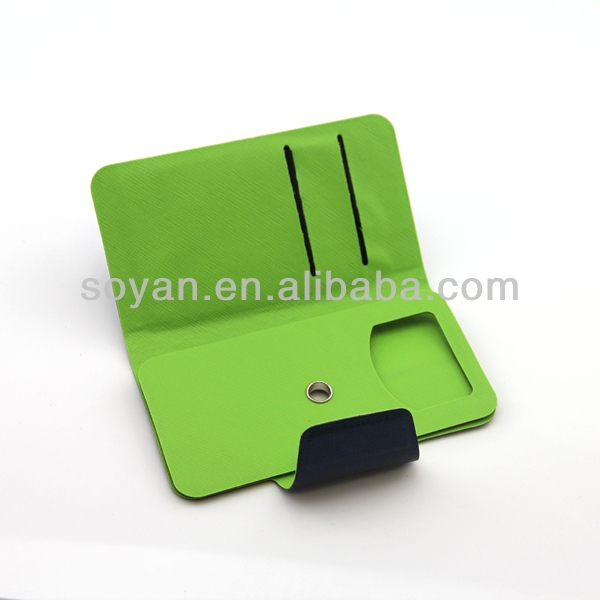 2013 New PU Leather covers, 360 Rotating PU Leather cover with magic sticker for various mobile phone with stand and wallet