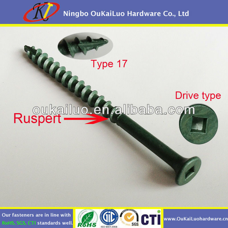Ruspert Coating Square Drive Deck Screws for Composite Wood