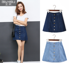zm40122b plus size A style high waist women skirt summer hot sale jeans dress