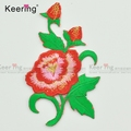 OEM Keering flower embroidery patch for Wedding Dress