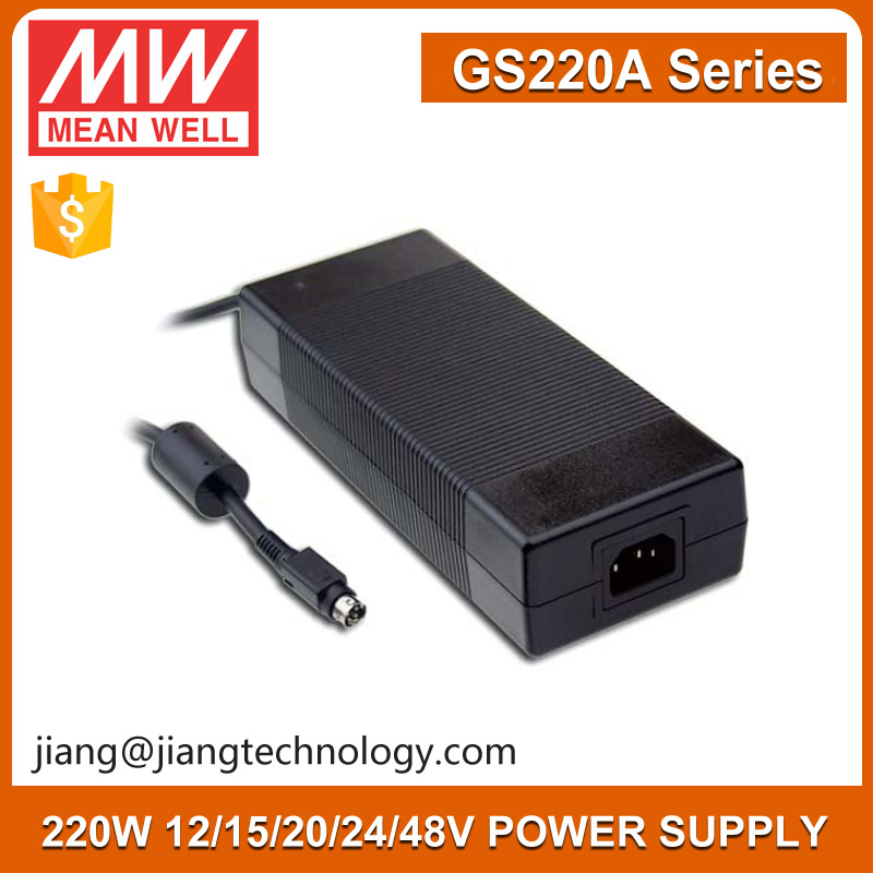 220W Laptop AC Adapter 15V 13.4A GS220A15-R7B Meanwell Adaptor For Slit Lamp