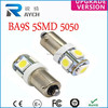 Automotive LED Lights T10/BA9S 5SMD SMD Light/Lamp Tail Auto LED Light