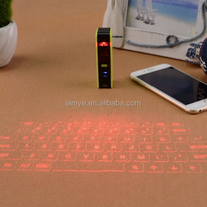 Portable USB Wireless Bluetooth Contact Projection Virtual Laser Keyboard with CE FCC Rohs