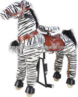 HI CE Hot Sale lovely zebra riding animal toy plush horse toys