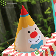 2015 Fuuny Happy Clown Printing Children Birthday Party Cone 100% Paper Hat