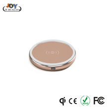Hot selling Aluminum 5W wireless charging pad Qi wireless charger