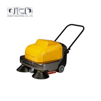 P100A Walk Behind Sweeper Driveway Vacuum Sweeper Floor Machine Cleaner Asphalt Road Sweeper