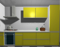 Hot sale modern kitchen designs modular aluminum profile Kitchen Cabinet Door