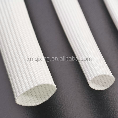 High Breakdown Voltage Silicone Fiberglass Mesh Tubing