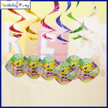 6pcs new design party swirl hanging decorations for children