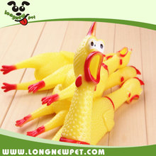 Chicken Squeaky Dog Chew Toys Rubber Dog Toy Funny Pet Toys
