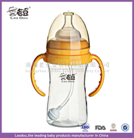 Arriving 150,240,300Ml Baby Feeding Bottle PP Bottle with Handle Standard Caliber Nursing Bottle Breast Milk Bottle Nipple