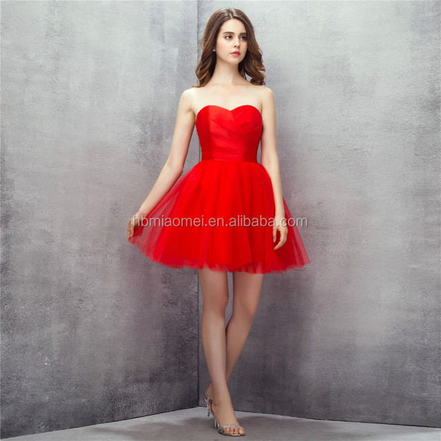 Real photo! Aline off shoulder solid red color short bridesmaid dresses