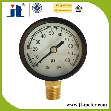 "Low Connection 2-1/2"" Steel Case Pressure Gauge For Hot Water And Steam"