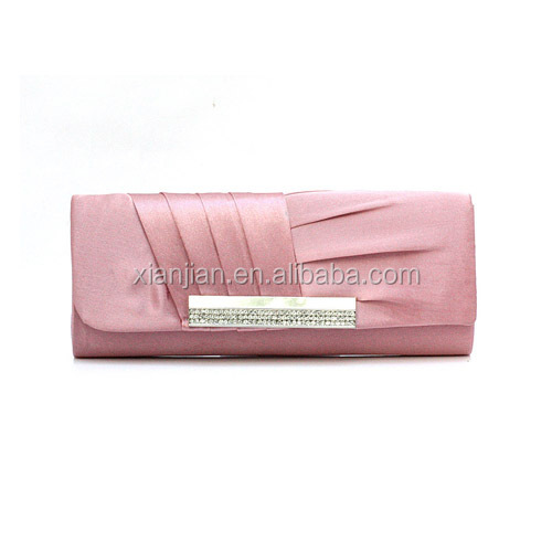 Cheap Silk Ruffled Pleated Party Clutch Evening Bag Purse Manufacturer (LCHEB18)