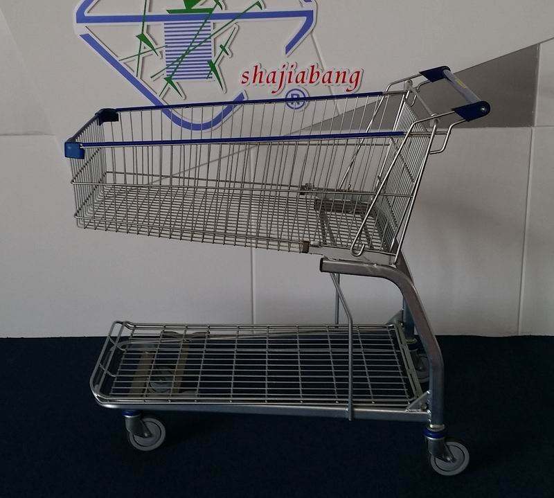 Metro Supermarket 145litres Shopping cart with low tray heavy capacity