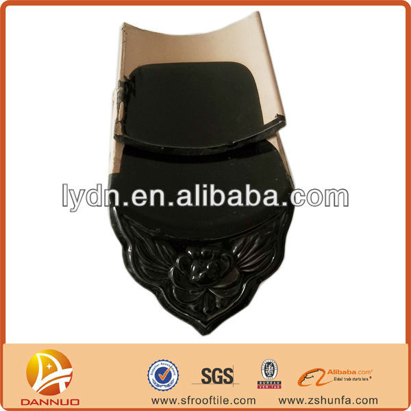 Unique roof decorative materials traditional black clay Chinese tiles