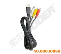 Suoer Factory 1.8m AV Cable Female Micro USB to 3 RCA Cable