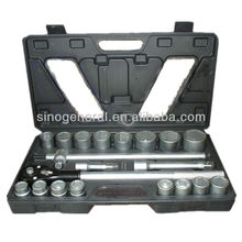 "21pcs 3/4"" DR.socket wrench set tool box with tools"