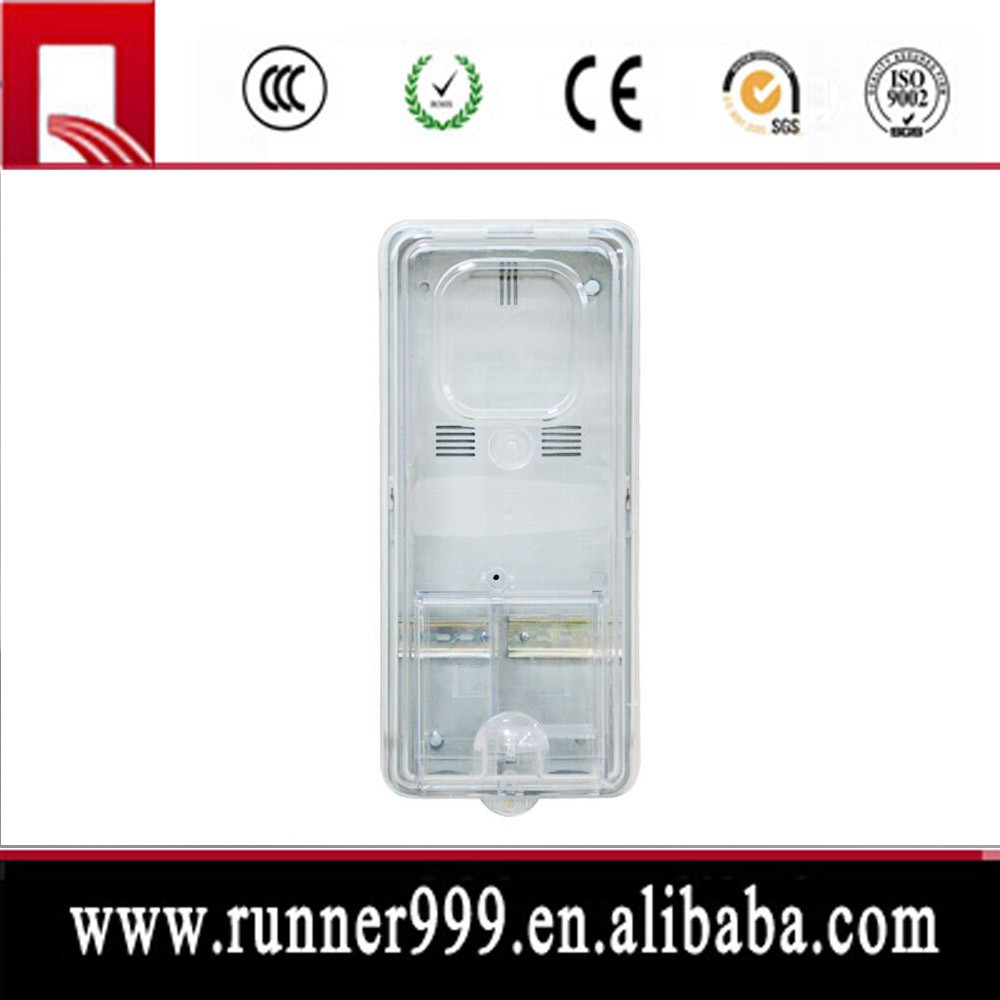 Contemporary designed single and three phase plastic electrical meter boxes