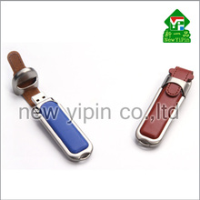 New Yipin Factory Prices Personnel Gifts Flash Drive Promotional USB Leather