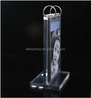 acrylic cosmetic holder desk sign holder a5 acrylic table tent display menu holder bank