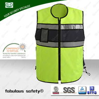 Railway cheap working polyester cotton safety reflective hi vis vest