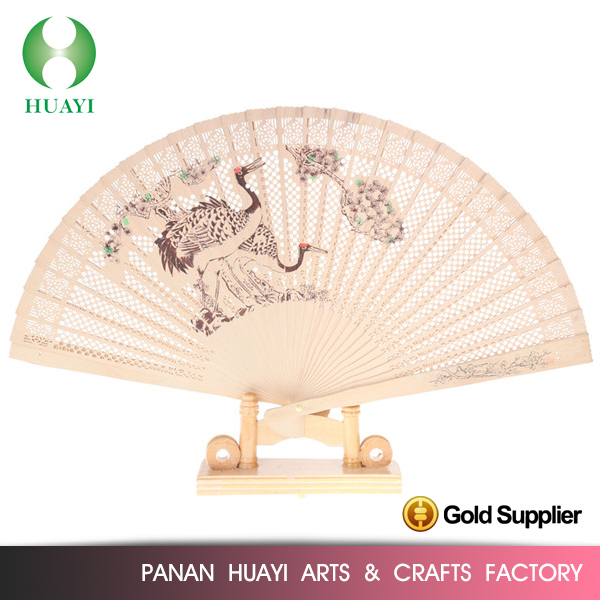 Factory price wooden wedding souvenir fan with good offer