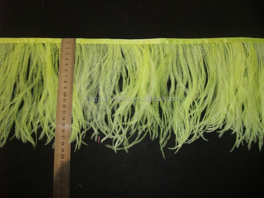 hot selling and favorable ostrich feather fringes and trims