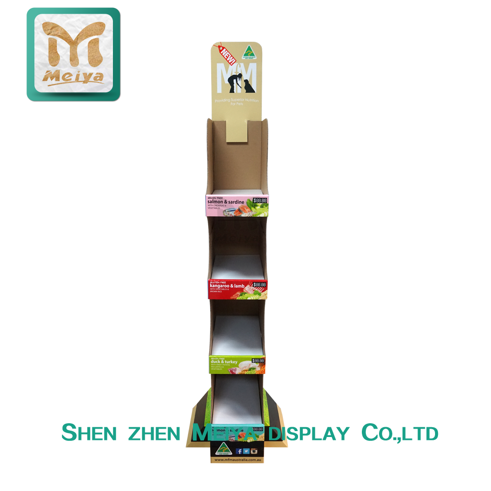 Retail Supermarket Fruit and Vegetable 5 Shelves Product Display Rack with Iron Pipe Fixed