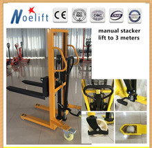 Hand manual forklift prices SYC series, 1500kg, lift height 3000mm , with Straddle Legs Forklift Stacker