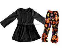 Boya New Halloween Remake Outfit Fall Boutique Girl Clothing Baby Girl Cotton Pants Clothes Sets
