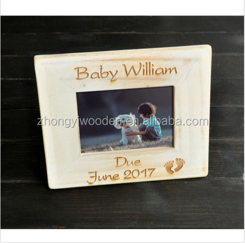 factory FSC&BSCI Personalized Baby Frame, Custom New Baby Frame, plywood Wooden standing Picture Frame Photo frame