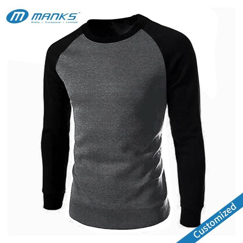 Custom Made Men High Quality Long Sleeves 100% Cotton Soft Constrasting Casual T Shirt