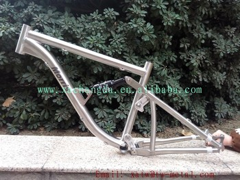 Full suspension bike frame for women Titanium suspension bike frame for woman