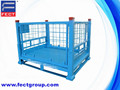 Foldable painted metal box pallet/galvanized carbon steel pallet