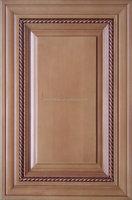 Mitered round corner kitchen cabinet door solid raised panel door