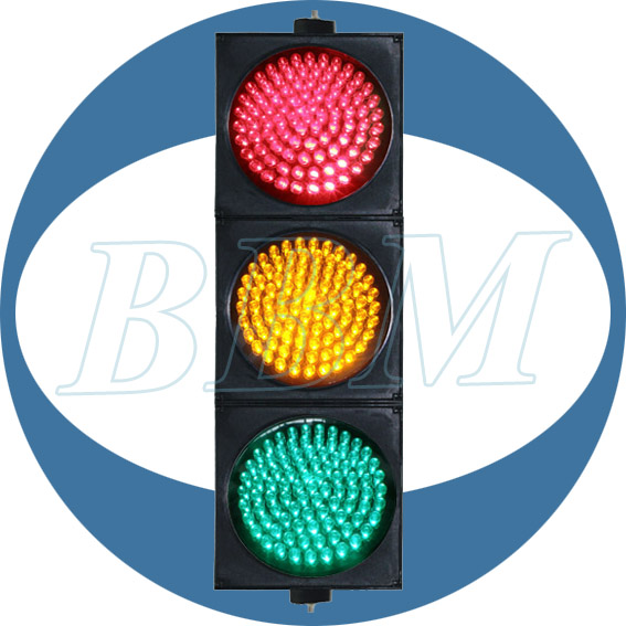Tricolor 300mm road traffic light led signs