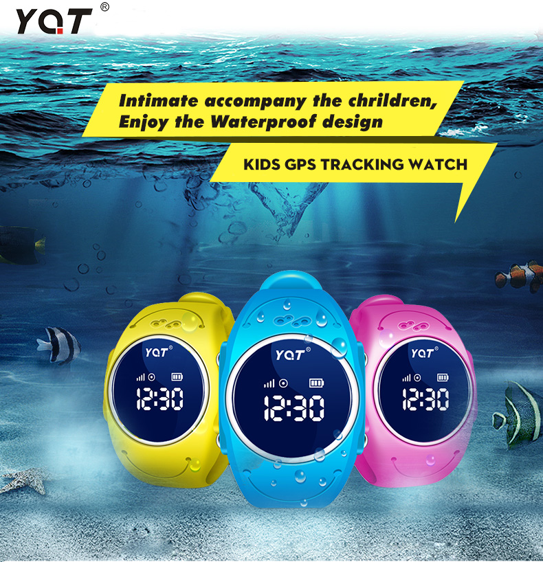 Waterproof hidden gps tracker watch for kids with wristband