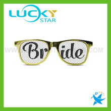 Custom glod frames sunglasses for party bride sunglasses cheap wholesale in china