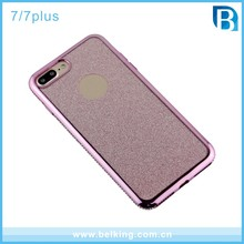 Crystal Glitter Rubber Pattern TPU Case For iPhone 7 7Plus Diamond Electroplated Bumper