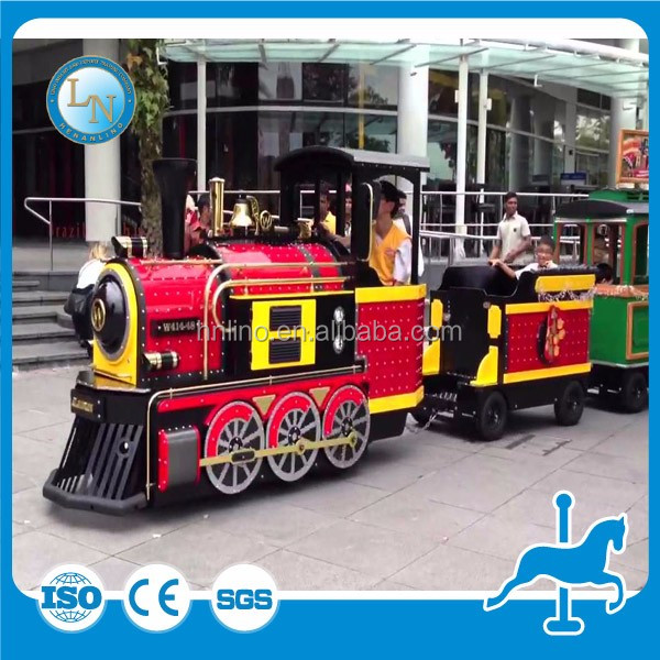 Wonderful kiddie ride electric trackless train tourist trains for sale