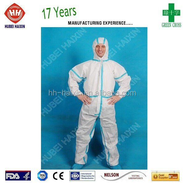 safety products for personal protection Disposable Nonwoven Coverall