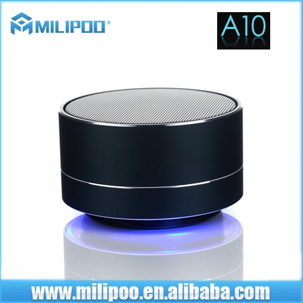 OEM Factory Price A10 Super Bass Bluetooth Speaker with LED light System For iPhone, Car, TV,