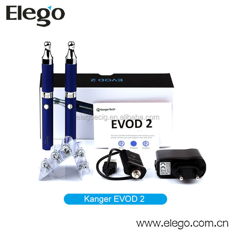 2014 Hottest Selling original Kanger Evod 2 starter kit from wholesale e cigarette distributors