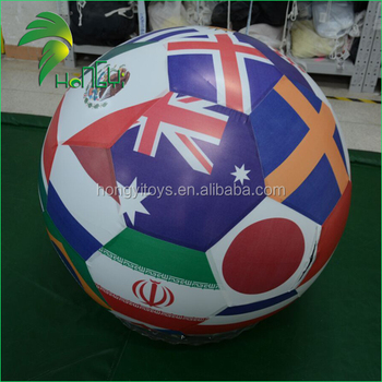 Promotional Country National Flag Balloons , Inflatable Flag Sphere For Sale