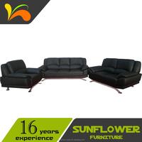2016 New Design Black PU Sofa Furniture For Home & Hotel