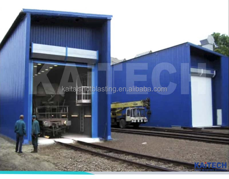 sand blasting booth / shot blasting room for truck or wind towers with CE